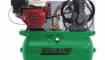 Speedaire - 4LW38 Stationary Gas Air Compressor, 30 gal
