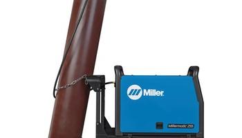 Miller - Millermatic 255 MIG/Pulsed MIG Welder w/ EZ-Latch Running Gear- 208/240V