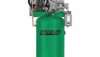Speedaire - 35WC48 3 Phase - Electrical Vertical Tank Mounted 7.5 HP - Stationary Air Compressor, 80 gal