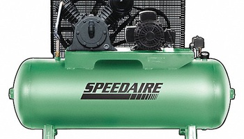 Speedaire - 54JK65 3 Phase - Electrical Horizontal Tank Mounted 5.0 HP - Stationary Air Compressor, 80 gal